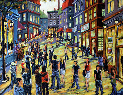 Canadiens Painting - Culture In The Streets By Prankearts Fine Art by Richard T Pranke
