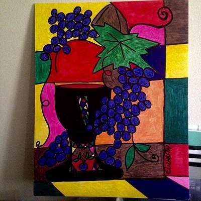 Grape Leaves Drawing - Culture Of East by Elizabeth k