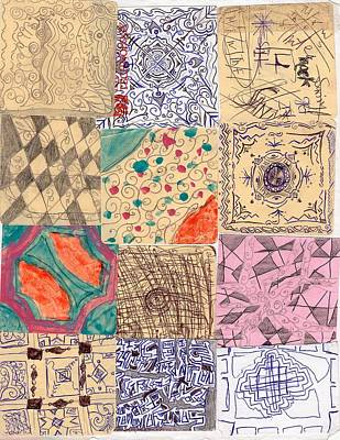 Culture Plates 1 Print by Sakiba Jarwar