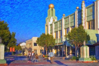 Culver City Plaza Theaters   Art Print by David Zanzinger