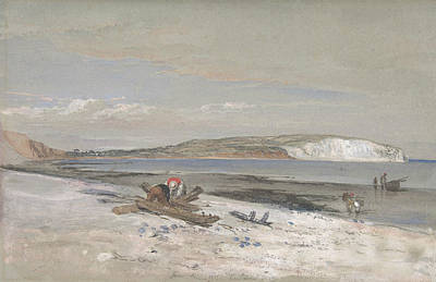 Drawing - Culver Cliff, Isle Of Wight by William Dyce