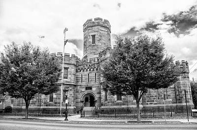 Digital Art - Cumberland County Prison In Black And White by Bill Cannon