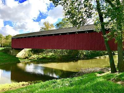 Photograph - Cumberland Covered Bridge by Russell Keating