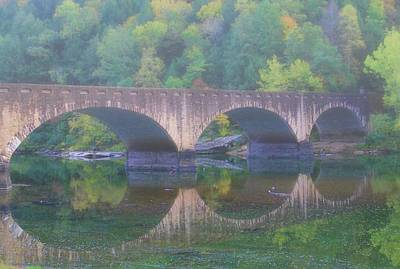 Photograph - Cumberland Falls Bridge In Mist by Dan Sproul