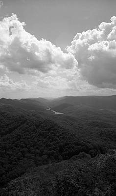 Photograph - Cumberland Gap - Kentucky Bw 2 by Frank Romeo