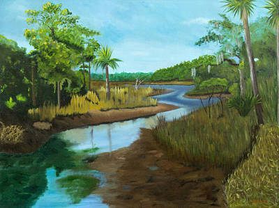 Cumberland River Painting - Cumberland Island Marsh-- North End by Cathy Sherwood