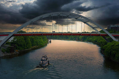 Cumberland River Photograph - Gateway Bridge Over The Cumberland River, Nashville, Tn by Art Spectrum