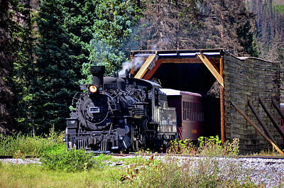 Photograph - Cumbres And Toltec Engine #489 by Debra Martz