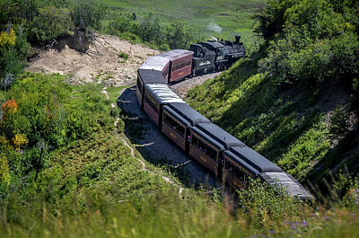 Photograph - Cumbres And Toltec Scenic Railroad In The Mountains by Debra Martz