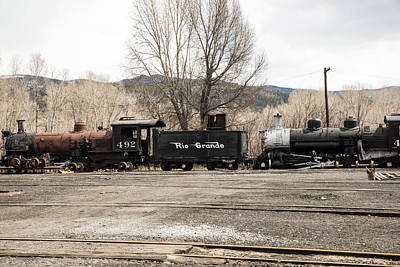 Photograph - Cumbres And Toltec Steam Engines by Tom Cochran