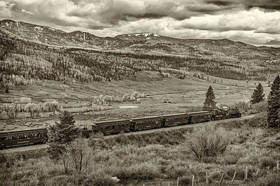 Photograph - Cumbres Toltec Railroad Nm Sepia Dsc04065 by Greg Kluempers