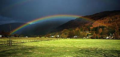 Ambleside Wall Art - Photograph - Cumbrian Rainbow by Meirion Matthias