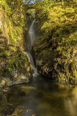 Aira Force Wall Art - Photograph - Cumbrian Waterfall. by Angela Aird