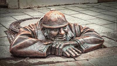 Manhole Photograph - Cumil The Peeper II by Joan Carroll