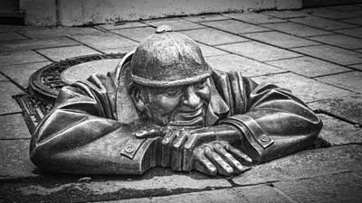 Manhole Photograph - Cumil The Peeper by Joan Carroll