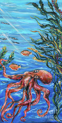Painting - Cummings Octopus by Linda Olsen