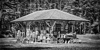 Photograph - Cummings Railroad Depot, Luggage by Betty Denise