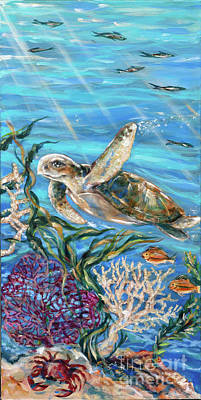 Painting - Cummings Turtle by Linda Olsen