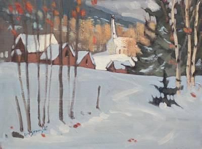 Sunlit Tree Painting - Cummington by Len Stomski