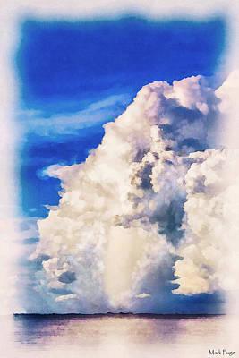 Dap Photograph - Cumulonimbu Over Tampa Bay by Mark Fuge