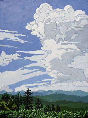 Painting - Cumulonimbus Afternoon by John Gibbs