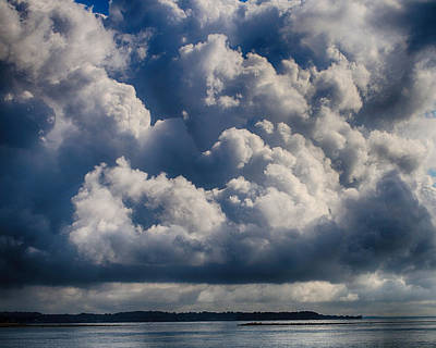 Stratford Photograph - Cumulus Over The River by William Selander