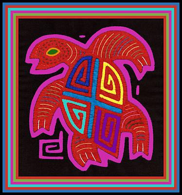 Digital Art - Cuna Indian Tortuga by Vagabond Folk Art - Virginia Vivier