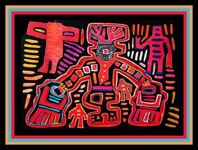 Digital Art - Cuna Shaman Healing Ritual by Vagabond Folk Art - Virginia Vivier