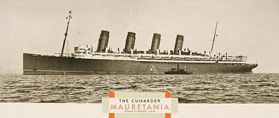 Cunard Line Promotional Brochure For Art Print by Vintage Design Pics