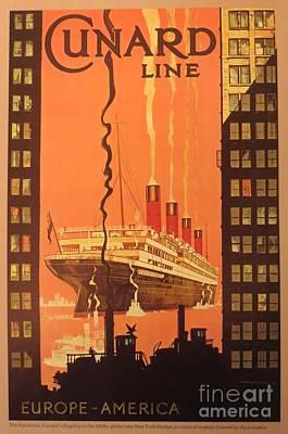 Cunard Ocean Liner Poster Art Print
