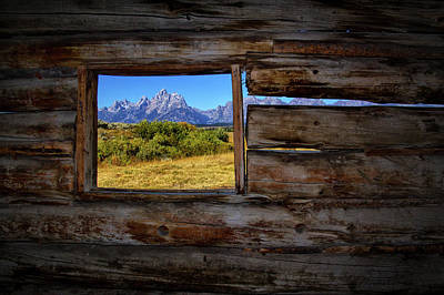 Photograph - Cunningham Cabin Window View by Carolyn Derstine
