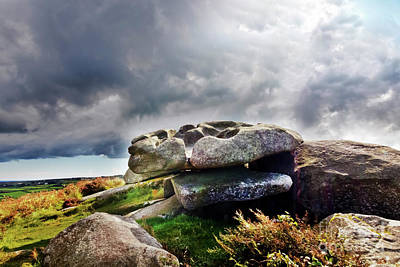 Photograph - Cup And Saucer Rock Carn Brea by Terri Waters