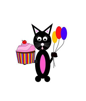 Cute Cupcakes Digital Art - Cup Cake Party by Kathleen Sartoris