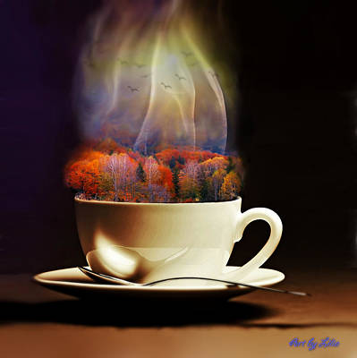 Digital Art - Cup Of Autumn by Lilia D