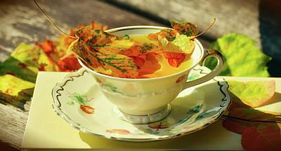 Photograph - Cup Of Autumn Tea by Congerdesign