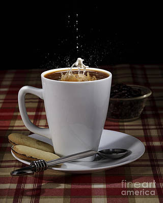 Photograph - Cup Of Coffee With A Splash Of Milk by Art Whitton