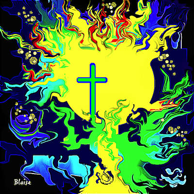 Digital Art - Cup Of Salvation by Yvonne Blasy