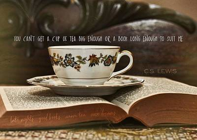 Photograph - Cup Of Satisfaction Quote by JAMART Photography
