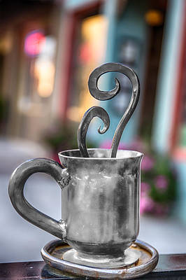 Digital Art - Cup Of Silver Coffee by John Haldane