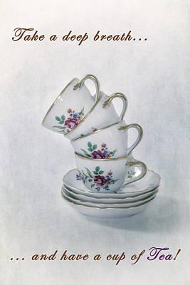 Tableware Photograph - Cup Of Tea by Joana Kruse