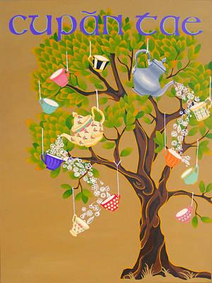Teapot Painting - Cupan Tae by Aria La Faye
