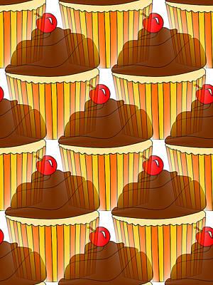 Cute Cupcakes Digital Art - Cupcake Display by Kathleen Sartoris