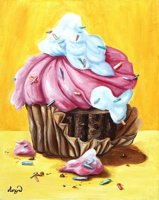 Painting - Cupcake by Maryn Crawford