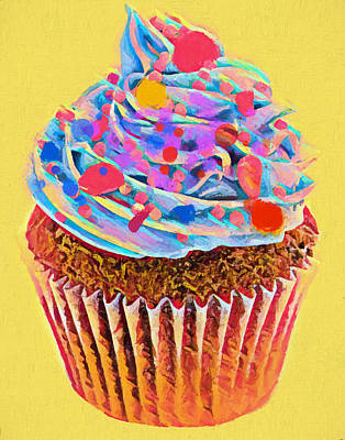 Painting - Cupcake Pop Art by Dan Sproul