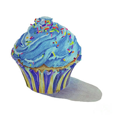 Drawing - Cupcake by Terri Mills