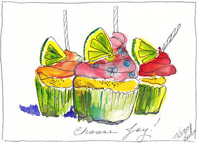 Cupcake With Limes Original by Michele Hollister - for Nancy Asbell