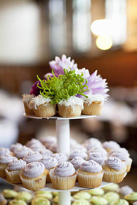 Cupcake Photograph - Cupcakes On Stand by Ikonica