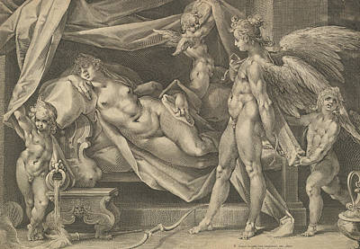 Relief - Cupid And Psyche by Bartholomeus Spranger