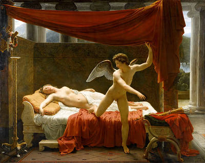 Painting - Cupid And Psyche by Francois-Edouard Picot