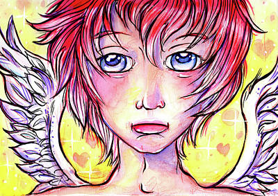 Mixed Media - Cupid Boy by Nada Meeks